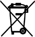 Symbol crossed out bin