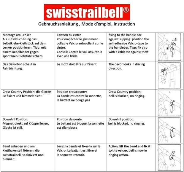 "swisstrailbell® DIMB-EV Edition ""Fair on Trails"", blue ribbon"