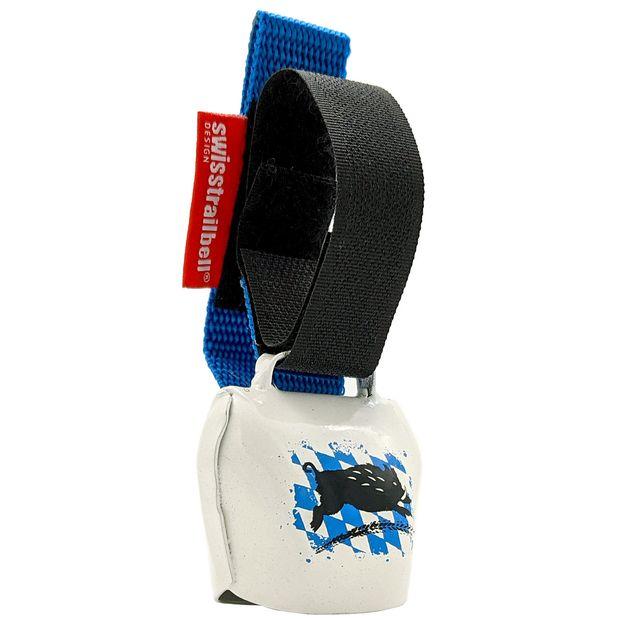 "swisstrailbell® Bavaria Style: ""The Rhombus Boar"", blue ribbon"